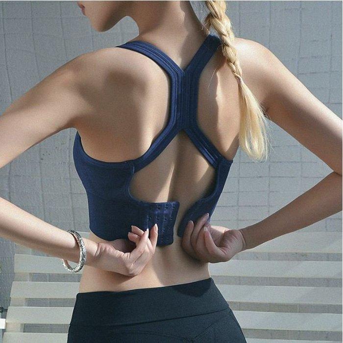 女 運動内衣 全罩杯 後扣 防震 聚攏 無鋼圈 美背 C52-B01