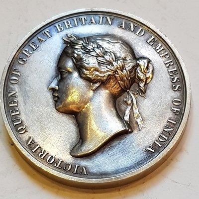 英國銀章1871 UK India Bombay Presidency Rifle Meeting Medal.