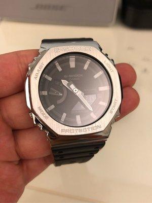 ⚠️「現貨」‼️賠售中 Casio G-shock 卡西歐 小AP GA-2100 不鏽鋼錶殼改裝套件
