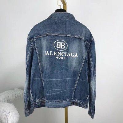 《巴黎拜金女》Balenciag*BB字標牛仔立領外套