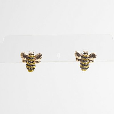 ╭☆包媽子店☆Kate Spade 小蜜蜂項鏈/耳釘((防過敏))