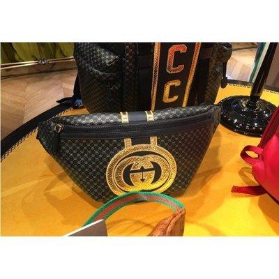 代購The Gucci x Dapper Dan Clothing Collection 限定款腰包 黑金  專櫃正品
