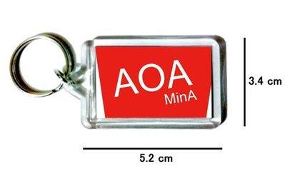 〈可來圖訂做-鑰匙圈〉AOA 珉娥 MinA 壓克力雙面鑰匙圈 (可當吊飾)