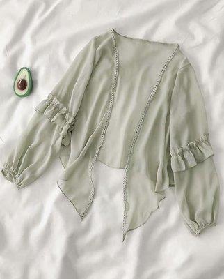 外套小罩衫 綠 全新