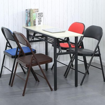 椅子-折疊椅子家用餐椅靠背椅辦公椅會議椅培訓椅電腦椅宿舍椅折疊凳子精品生活