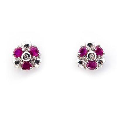 【JHT 金宏總珠寶/GIA鑽石專賣】1.25ct天然紅寶鑽石耳環/材質:18K(R00037)