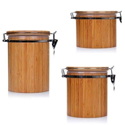 竹制茶葉罐竹筒密封罐竹桶功夫茶具手工存茶罐儲物罐茶道茶桶 小號