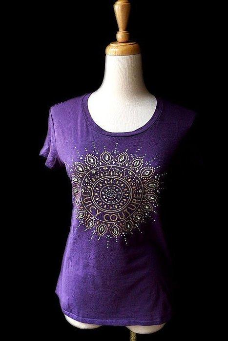 *Beauty*JUICY COUTURE紫色水鑽短袖棉T恤 XS 號  2000 元