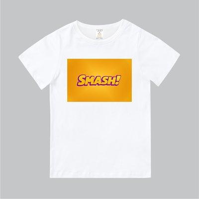T365 MIT 親子裝 T恤 童裝 情侶裝 T-shirt 標語 話題 口號 美式風格 slogan SMASH!