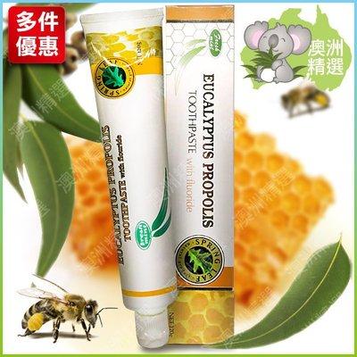【澳洲精選】Spring Leaf 綠芙 尤加利蜂膠牙膏 120g (含氟)