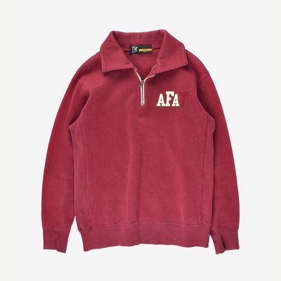 FAT Heavy cotton hooded sweatshirt  M 厚棉 酒紅 復古紅 衛衣POLO長袖上衣