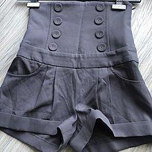 黃淑琦 鐵灰平肩連身短褲