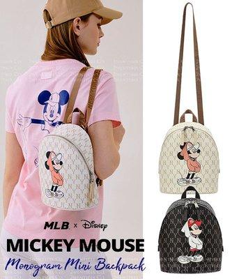~卡蜜拉魔坊~MLB X Disney 迪士尼 聯名款 洋基NY 洛杉磯LA 米奇圖案 後背包 小後背包