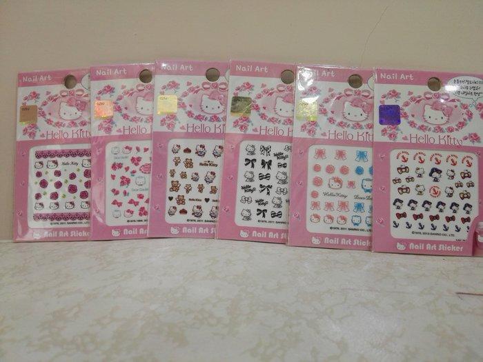 《東京家族》Kitty指甲貼片 玫瑰 航海 情侶 黑白 泰迪熊 結婚 6選1