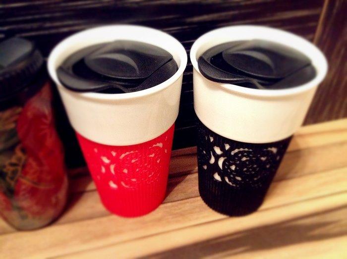 尼克卡樂斯家居精品~中國風窗花陶瓷隨身杯 環保杯 隨手杯 隨行杯 外帶杯 情侶對杯