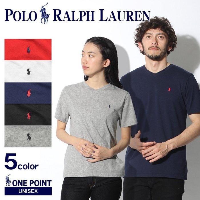 《FOS》日本 RALPH LAUREN V領 短袖 素面 短T 素T T恤 上班 逛街 約會 好搭 熱銷 2019新款