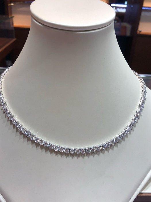 總重23克拉手工製作天然鑽石項鍊超美超豪華,每顆鑽石都是八心八箭完美車工超閃亮