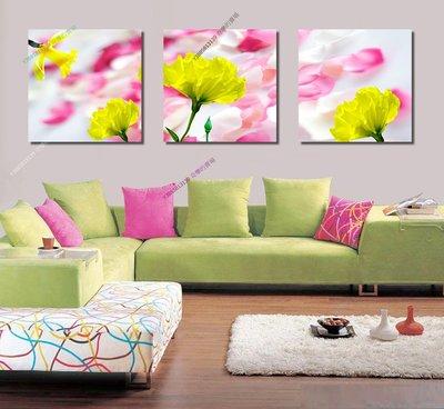 【40*40cm】【厚1.2cm】黃花-無框畫裝飾畫版畫客廳簡約家居餐廳臥室牆壁【280101_055】(1套價格)
