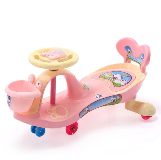 兒童扭扭車萬向輪女寶寶搖擺車1-3-6歲嬰幼玩具妞妞車滑行溜溜車—莎芭