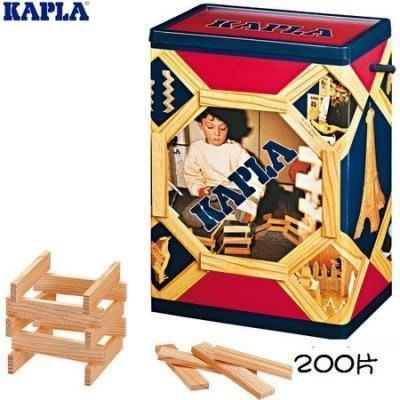 KAPLA 精靈積木-原木積木盒(基本款)200PCS 天然松木益智操作積木