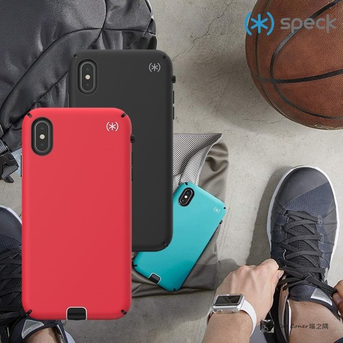 Speck iPhone Xs Max 6.5吋 抗菌抑臭運動型防摔保護殼 Presidio Sport 背蓋 喵之隅