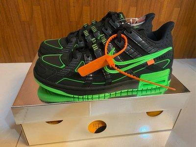 Off-White x Nike Air Rubber Dunk Green Strike 黑綠 CU6015-001