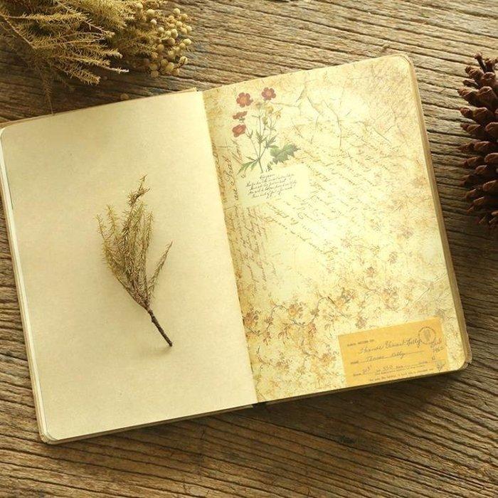 YEAHSHOP 復古筆記本子日記本創意歐式彩頁插畫記事本Y185