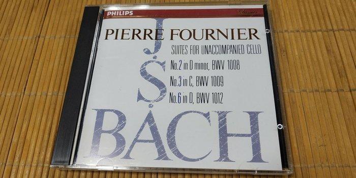 好音悅 Pierre Fournier 傅尼葉 Bach 巴赫 巴哈 無伴奏大提琴組曲 Philips 日版 無IFPI