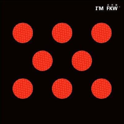 【3M鑽石級反光貼紙】橘紅 3M螢光鑽石級3公分反光片 汽機車警示 提高行駛安全 反光屋FKW