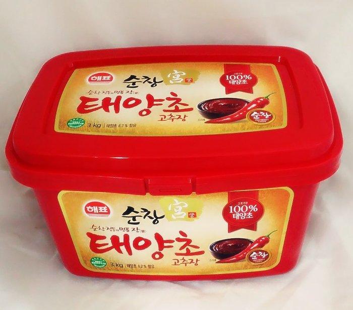 韓國原裝進口辣椒醬3Kg ~~韓國辣椒醬/韓式辣椒醬~料理必備~韓國泡菜必備醬