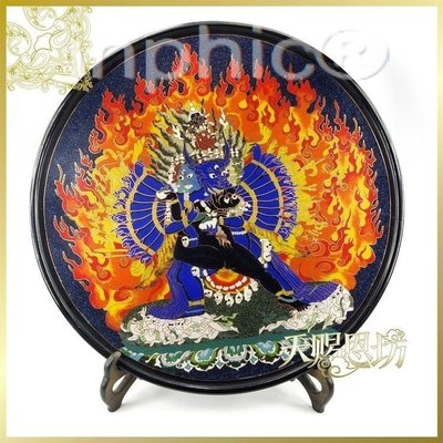 INPHIC-印度正品手工鑲銅片彩色沙畫神像圓盤擺飾商務裝飾品奢侈品