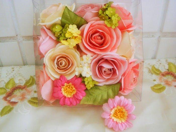 ~蘇菲亞精品傢飾~德國進口花漾粉色佳人玫瑰香氛大款禮盒/乾燥香花特價促銷