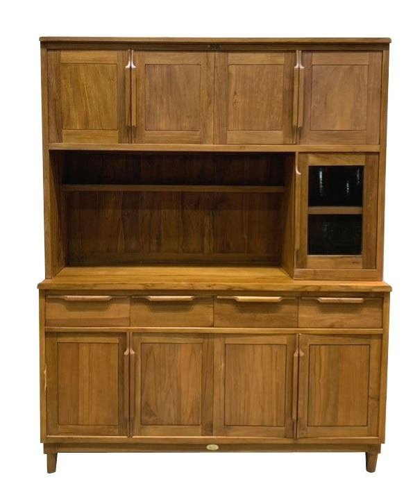 宏品二手傢具台中大里 HM035BJF*新五尺柚木碗盤收納櫃 餐櫃*隔間屏風櫃 櫥櫃 全新中古傢俱家電 滿千送百豐富喜悅