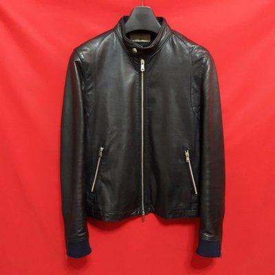 ?日本精品?日本品牌HARE   高檔窄版素面百褡柔軟羊皮立領騎士皮衣 真皮