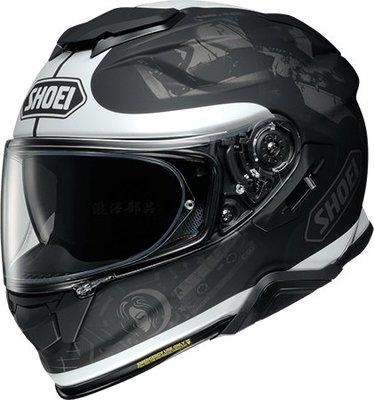 瀧澤部品 日本SHOEI GT-AIR II 2 全罩安全帽 TC-5 REMINISCE 黑白 彩繪 加長內墨片 通風