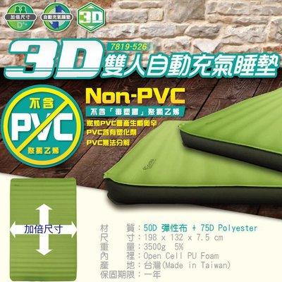 【山野賣客】ADISI AS7819-526-果綠灰 3D雙人自動充氣睡墊 登山露營床墊 單車環島 自助旅行 空氣床