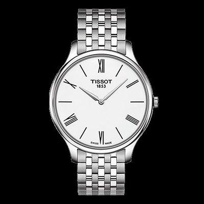 Tissot 天梭俊雅系列鋼帶石英男腕錶 T0634091101800