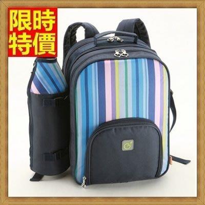 野餐包 2人餐具組 雙肩後背包-藍綠雙款雙人實用保溫保鮮露營野餐包 68ag12[獨家進口][米蘭精品]