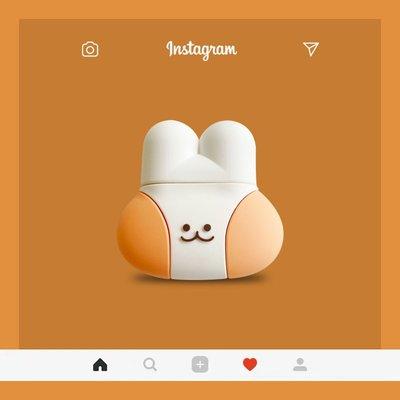 airpods保護套 笑臉萌兔AirPodsPro保護套韓國蘋果2代無線藍牙耳機套殼可愛女 耳機保護套 嘉義百貨