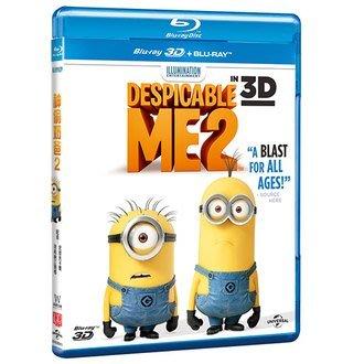 合友唱片 面交 自取 神偷奶爸2 3D+2D 藍光 Despicable Me 2 BD