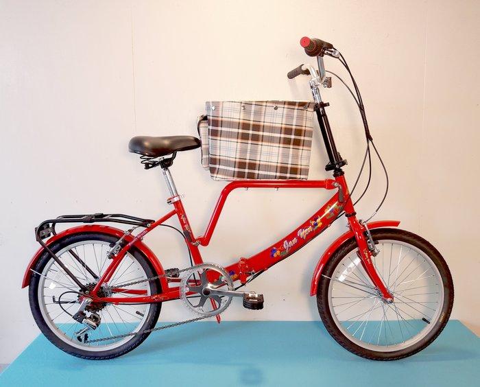 JY (豪華版) 20吋 6速 (中籃) 寵物自行車 SHIMANO (白/粉紅/紅/黑色) 拆掉橫座變淑女車 寵物籃