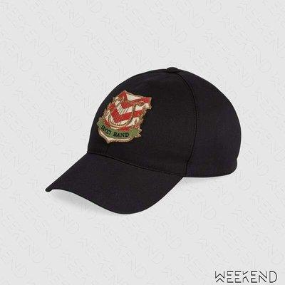 【WEEKEND】 GUCCI 貼片 棒球帽 帽子 鴨舌帽 黑色 男女同款 578332