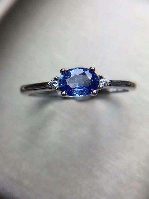 【藍寶石戒指】純天然無燒斯里蘭卡藍寶石戒指 乾淨澄澈 夢幻藍