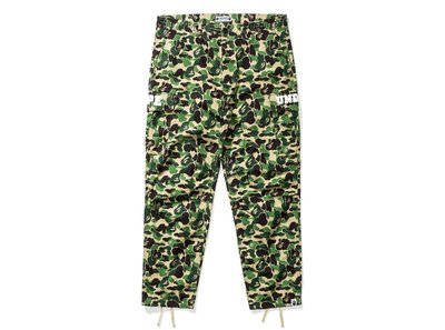 A BATHING APE BAPE X UNDEFEATED ABC 6POCKET PANTS 柵欄 聯名 工作褲