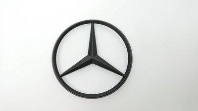 圓夢工廠 賓士 Benz 星標 10公分 改裝 消光黑 後車廂標誌 logo mark