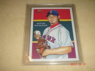 日本旅美球員 Red Sox 松坂大輔 2010 Topps National Chicle #4 球員卡