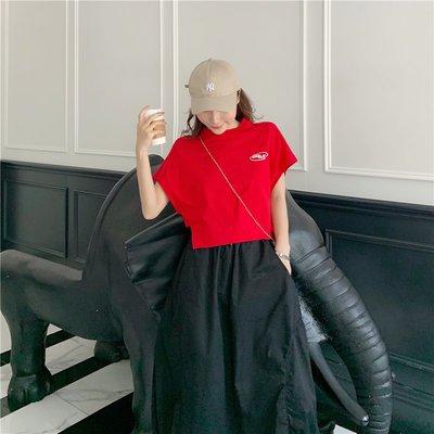 YOHO 短袖上衣 (19JHL0707-4-1) 實拍寬鬆短款棉T T恤 有3色