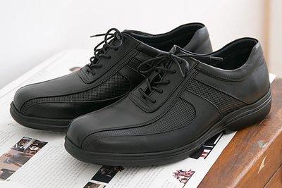 男款 全新專利研發『超輕量PMEVA大底』透氣輕量綁帶 MIT手工休閒氣墊皮鞋