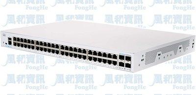 思科 Cisco Business 250 CBS250-48T-4G-TW 48埠智慧網管型交換器【風和網通】