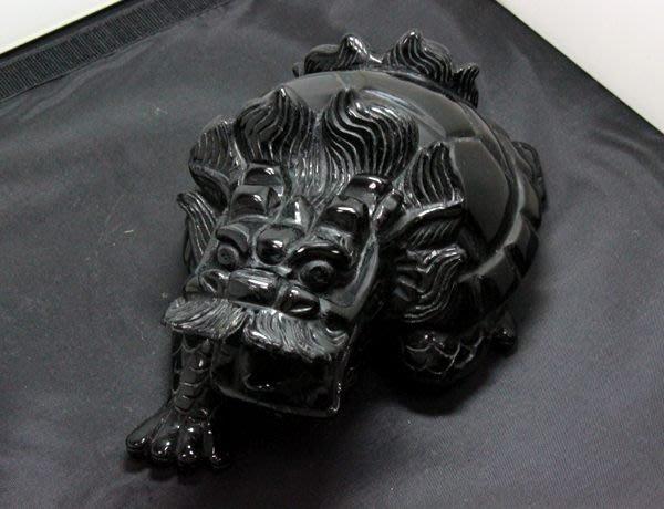 【小熊水晶窩】鎮宅除煞 大隻天然黑曜岩龍龜01 淨重2.64公斤